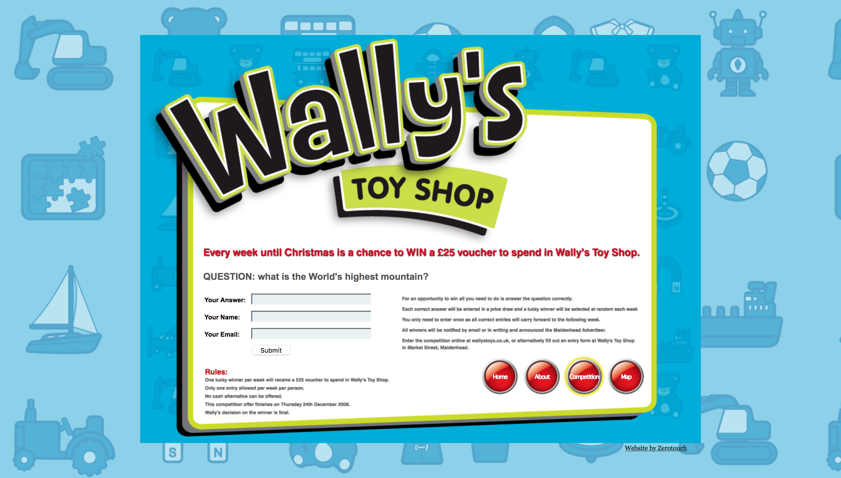 Wally's Toy Shop   Zerotouch